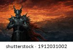 Dark knight - fantasy art digital illustration