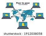 peer to peer concept.... | Shutterstock .eps vector #1912038058