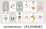 set of tags with bohemian items ... | Shutterstock .eps vector #1912038082