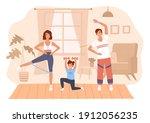 family home sport. happy...   Shutterstock .eps vector #1912056235