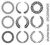 set of black and white rounded...   Shutterstock .eps vector #1912056925