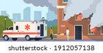 emergency help. paramedics... | Shutterstock .eps vector #1912057138