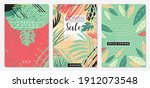 nature floral set of banners ...   Shutterstock .eps vector #1912073548