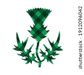 checkered green thistle  st.... | Shutterstock .eps vector #1912096042