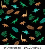 vector seamless background with ... | Shutterstock .eps vector #1912098418
