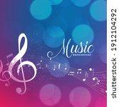 music pentagram notes... | Shutterstock .eps vector #1912104292