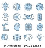 artificial intelligence icon... | Shutterstock .eps vector #1912112665