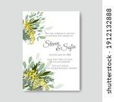 greenery herbal spring wedding... | Shutterstock .eps vector #1912132888