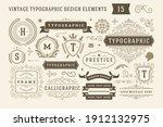 vintage typographic design... | Shutterstock .eps vector #1912132975