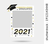class of 2021 photo booth prop...   Shutterstock .eps vector #1912143448