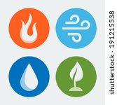 four elements   vector icons...