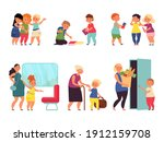 good manners kids. child... | Shutterstock .eps vector #1912159708