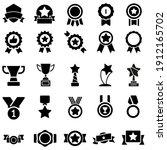 awards icon vector set. trophy... | Shutterstock .eps vector #1912165702