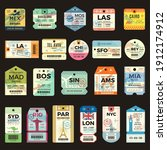 Retro Travel Tickets. Vintage...