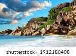 Grande Anse Beach In La Digue...