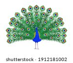 beautiful peacock. cartoon bird ...   Shutterstock .eps vector #1912181002