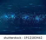 abstract technology background. ...   Shutterstock .eps vector #1912183462
