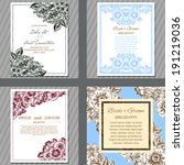 wedding invitation cards with... | Shutterstock .eps vector #191219036
