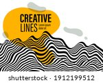 abstract vector 3d lines with... | Shutterstock .eps vector #1912199512