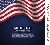 flag of usa waving with...   Shutterstock .eps vector #1912202272