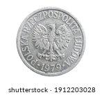Polish Ten Groszy Coin On A...
