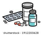 medicine pharmacy theme medical ... | Shutterstock .eps vector #1912203628