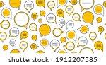 speech bubbles seamless vector... | Shutterstock .eps vector #1912207585