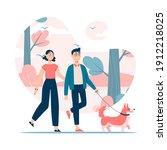 vector illustration. couple... | Shutterstock .eps vector #1912218025