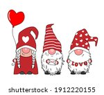 love card. cute gnomes with... | Shutterstock .eps vector #1912220155