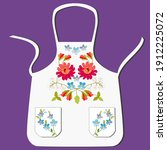 Apron White Ladies With Red...