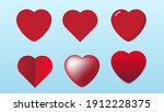 a set love object with some... | Shutterstock .eps vector #1912228375
