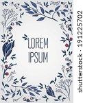 hand drawn floral frame | Shutterstock .eps vector #191225702
