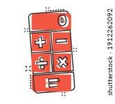 calculator icon in comic style. ... | Shutterstock .eps vector #1912262092