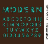 alphabetic fonts and numbers   Shutterstock .eps vector #191226608