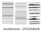 vector set of black hand drawn...   Shutterstock .eps vector #1912318618