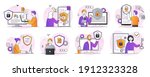 collection of digital data... | Shutterstock .eps vector #1912323328