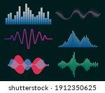 frequency audio waveform ... | Shutterstock .eps vector #1912350625