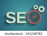 seo tag with gear wheel | Shutterstock .eps vector #191238782