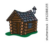 Small Crooked Log Cabin...