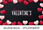 valentines day 3d hearts. cute...   Shutterstock .eps vector #1912446835