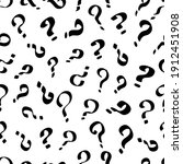 question mark seamless outline... | Shutterstock .eps vector #1912451908