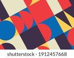 seamless bauhaus abstract... | Shutterstock .eps vector #1912457668
