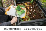 Composter With Organic Waste On ...