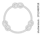Round Rope Frame With Knots ...
