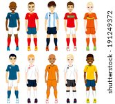 collection set of soccer... | Shutterstock . vector #191249372