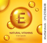 capsule with vitamin e.... | Shutterstock .eps vector #1912538638