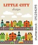 little city card design. vector ... | Shutterstock .eps vector #191254295
