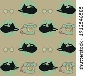 Vector Light Pink Cats With...