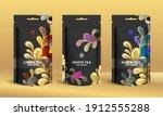 colorful tea packaging design... | Shutterstock .eps vector #1912555288