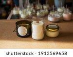 Wooden Wick Candles. Handmade...